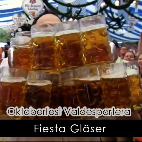 fiesta gläser Oktoberfest Valdespartera Zaragoza