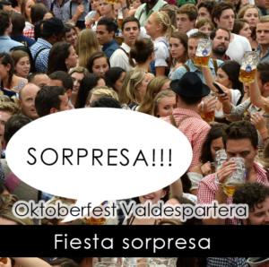 fiesta sorpresa en la Oktoberfest Valdespartera Zaragoza