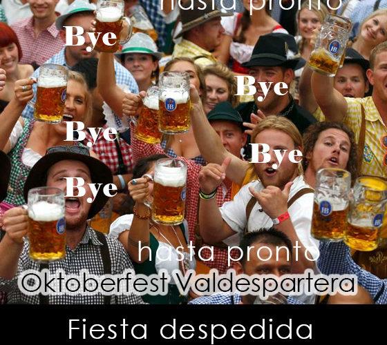 fiesta despedida Oktoberfest Valdespartera Zaragoza