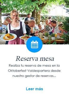 Reserva mesa para la fiesta de la cerveza de la Oktoberfest Valdespartera Zaragoza