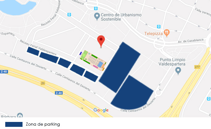 Zona parking recinto ferial Valdespartera